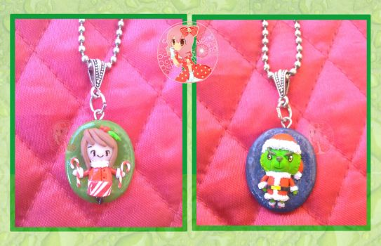 Holiday Pendent Necklaces by Octopop-n-Aicing