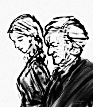 Sketch of Richard and Cosima by andrekosslick