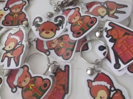 Christmas keychains by Aiko-Hirocho
