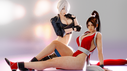 King of Fighters (5 b - Angel and Mai [B]) by AdeptusInfinitus