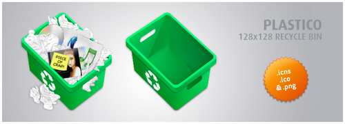 Plastico Recycle Bin by whyred
