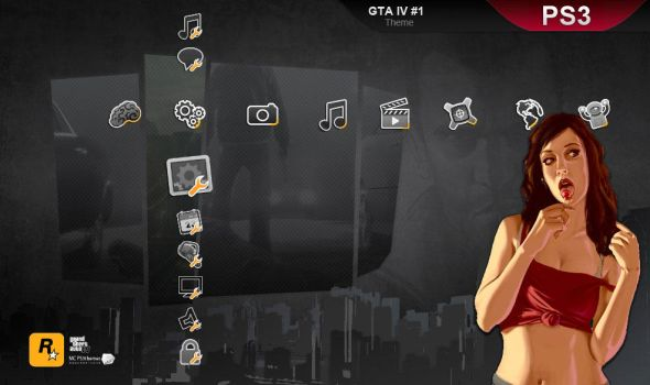 GTA IV, PS3 theme, bis by M23creations