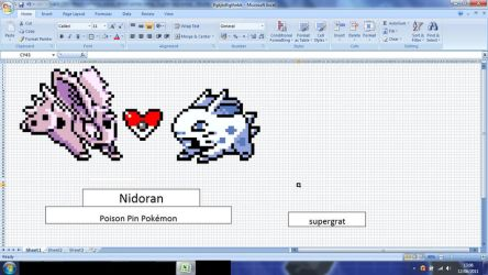 Nidoran MS excel by supergrat