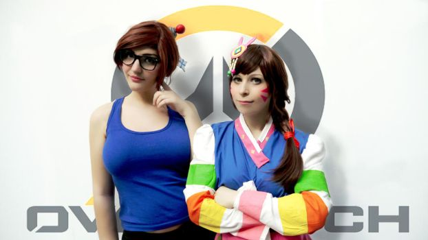 Overwatch - Mei and Dva by UmiJenova