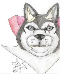 The Devil Dog has been colored by Halfshell
