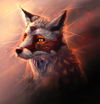 Day21 Dawn Fox by Foxeus