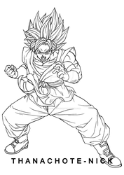Goku SSGSS - SDBH by Thanachote-Nick