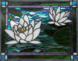 'Monet's' Waterlilies by AigneadhAigeann