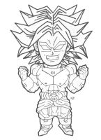 Chibi Broly (Lineart) by cheygipe
