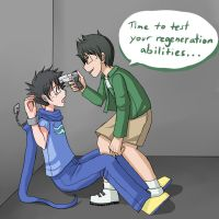 HS LC - John: Be threatened by Jake by ChibiEdo