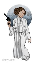 pixel + print | leia cosplay by artgyrl