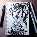 Sketchbook - Hela (NSFW on Patreon) by Candra