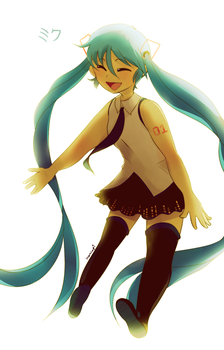 Miku 10th Anniversary by honrupi