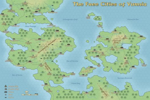 Map of the Free Cities by Domigorgon