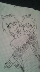 Crona and maka by demonsbloodlustX