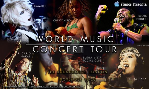 Apple iTunes World Concert Tour Poster by MelodicComet