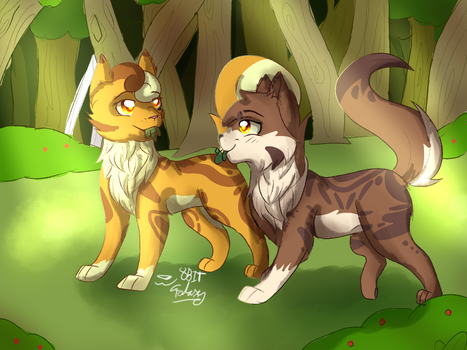 Herb Gathering [Mothwing x Leafpool] by 8BitGalaxy