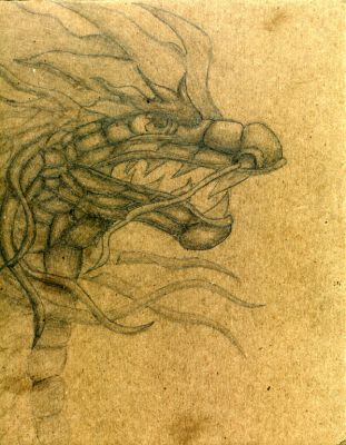 pencil dragon by Lavawolf