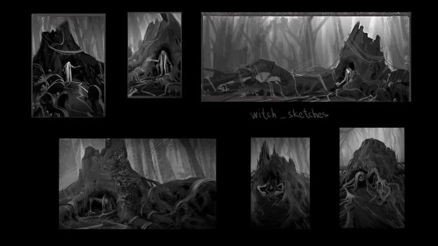 The Witch (thumbnails) by monsta87