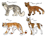 Wild Cat Point Adoptables - 1 CLOSED by Sparaze