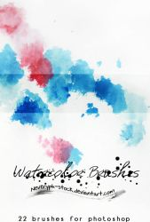 Watercolor brushes by Neveryph-stock