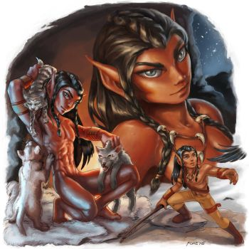 2012 ElfQuest Fan Art Calendar: Teir by Foxeye