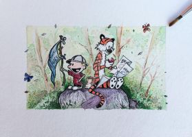 Calvin and Hobbes by Nephellim
