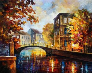 The River Of Memories by Leonid Afremov by Leonidafremov