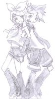 Rin and Len by UmiXFujimi