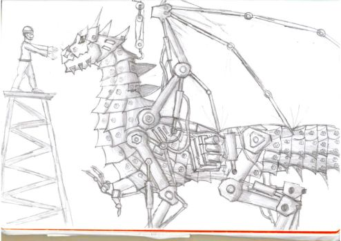 Mechanised Dragonpiece by C3H6N6O6