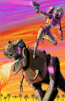 Sunset Rampage! by TheButterfly