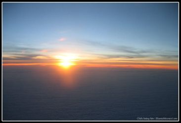 Sunset above the sky by x4