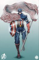 Captain America by IX-S