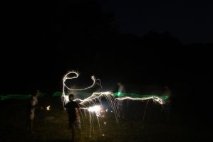 Kids Playing with Sparklers by MogieG123