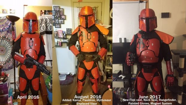 Evolution of my Mandalorian Armor by Delta253