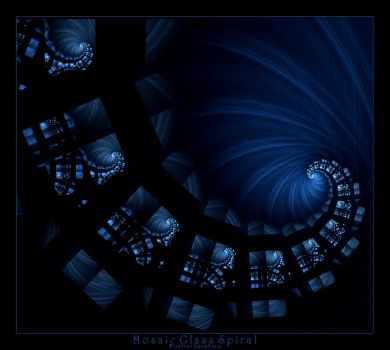 Mosaic Glass Spiral by Wick5ter