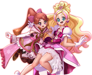 Cure Flora and Princess Refi by Fu-reiji