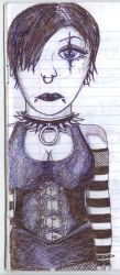 Goth drawing by strikeandrun