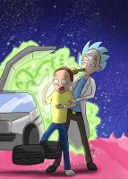 Rick and Morty Go Back to the Future by KarToon12