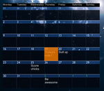 Ultra Calendar with notes - Rainmeter by alias-kanas