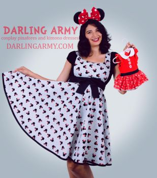 Minnie Mouse Disneybound Dapper Day Pinafore by DarlingArmy