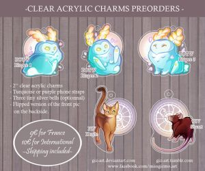 - Acrylic Charms preorder - by giz-art