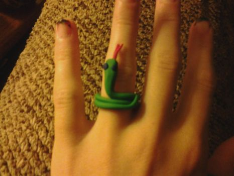 Clay Snake Ring by KittyVengeance6661