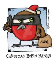 Christmas Robin Banks by stuartmcghee