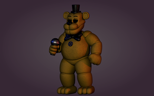 (Commission) FNaF3 Minigame Freddy but he is 3D by Boligonautas