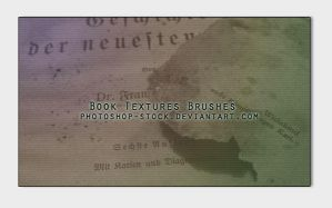 Book Textures Brushes by photoshop-stock