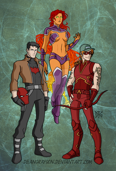 Commission- Red Hood and the Outlaws by DeanGrayson