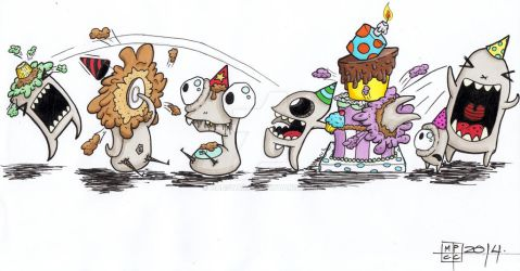 Phat Cake's 2nd Birthday Illustation