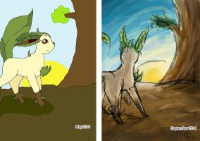 Leafeon redraw by Icognito-chan