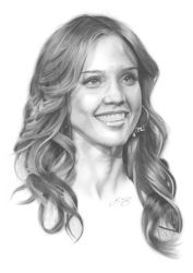 Jessica Alba Portrait by golfiscool